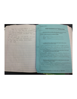 Interactive Science Notebook Parent Homework