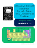 Interactive Science Notebook Periodic Table Family Charact