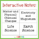 Interactive Science Notebook: Life Science, Physical Science, and Earth Science