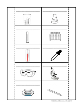 Interactive Science Notebook Science Tools Scavenger Hunt and Foldable