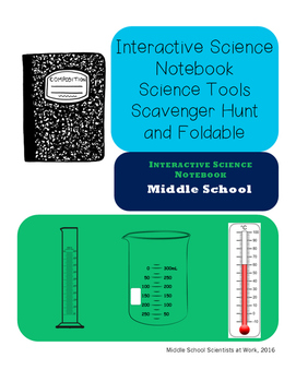 Interactive Science Notebook Science Tools Scavenger Hunt