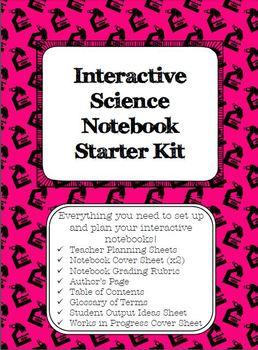 Interactive Science Notebook Set-up Starter Kit