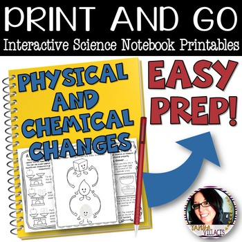 Interactive Science Sheets for Physical and Chemical Changes EASY PREP