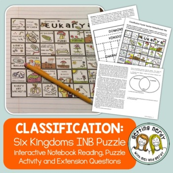 Six Kingdoms of Life Interactive Notebook Puzzle