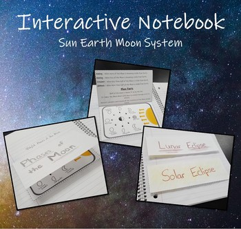Interactive Science Notebook - Solar & Lunar Eclipse, Phases of the Moon, & Sun