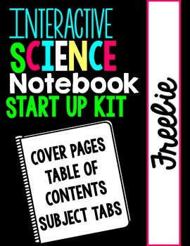Interactive Science Notebook Start Up