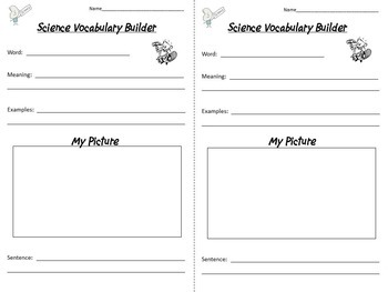 Science Notebook Vocabulary Skill Builders + PowerPoint Program
