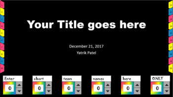 Interactive Scorekeeping PowerPoint Template