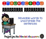 Interactive Scrambled Sentences