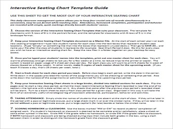 Interactive Seating Chart Template for Teachers