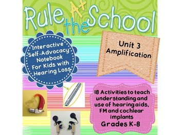 Interactive Self-Advocacy Notebook - Unit 3  Amplification