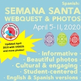 Spanish - Semana Santa Webquest & Beautiful Photo Presenta