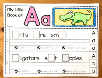 Interactive Sentence Booklets #1: Alphabet (Whimsy Workshop Teaching)