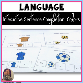 Interactive Sentence Completion Color Words for Speech Language