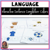 Interactive Making Sentences with Color Words for Speech Therapy