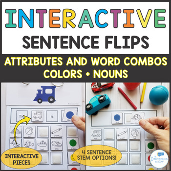 Interactive Sentence Flips Attributes and Word Combos - Colors