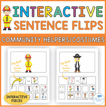 Interactive Sentence Flips - Community Helpers/Costumes - Pronouns