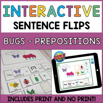Interactive Sentence Flips - Prepositions and Where Questi