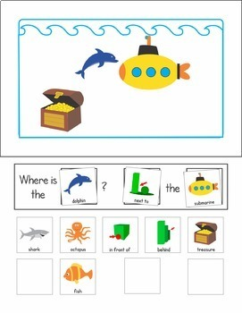 Interactive Sentence Flips - Prepositions and Where Questions - Ocean Animals