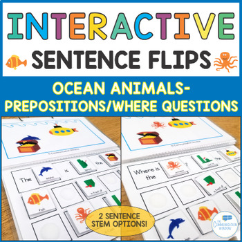 Interactive Sentence Flips - Prepositions and Where Questi
