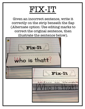 Interactive Sentence Notebook {Daily Sentence-Writing Exercises}
