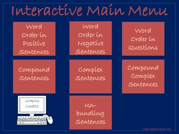 NO PRINT: Interactive Sentence Structure, Word Order & Sentence Lesson