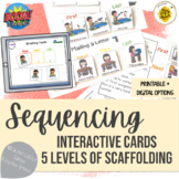 Interactive Sequencing Cards Scaffolded for Language