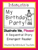 "Emergent Reader Interactive Sequential Story""My Birthday Party!"""