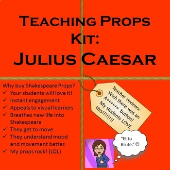 Julius Caesar Teaching Props Kit: Shakespeare