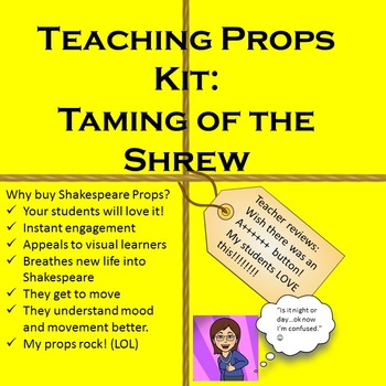 Taming of the Shrew Teaching Props Kit: Shakespeare