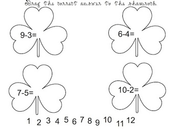 Interactive Shamrock Math