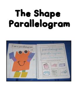 Interactive Shape Book Parallelogram