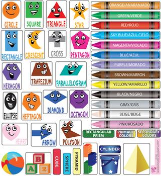 Interactive Shapes & Colors Wall Play Set