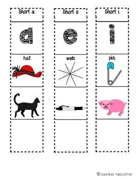 {FREE} {CCSS.ELA-Literacy.L.2} Interactive Short Vowel Foldable