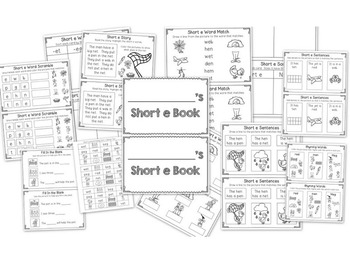 Interactive Short Vowel Phonics Books (CVC)