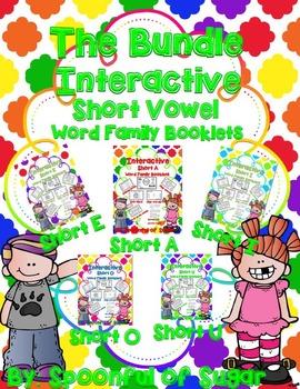 Interactive Short Vowel Word Families Booklets (The Bundle)
