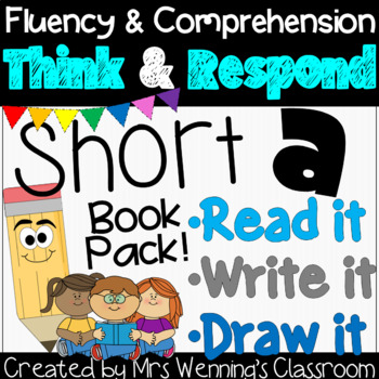 Interactive Short a Book: Think & Respond! 2 versions included!