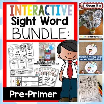 Interactive Sight Word BUNDLE PRE-PRIMER