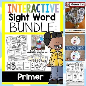 Interactive Sight Word BUNDLE PRIMER