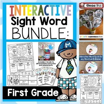 Interactive Sight Word BUNDLE FIRST GRADE