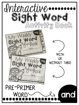 Interactive Sight Word Book-and
