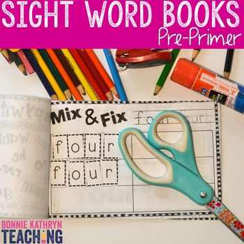 Interactive Sight Word Book- BLUE