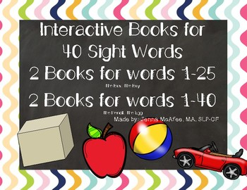 Interactive Sight Word Book BUNDLE: Lessons 1-40