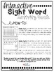 Interactive Sight Word Book-big