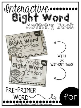 Interactive Sight Word Book-for