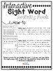 Interactive Sight Word Book-my