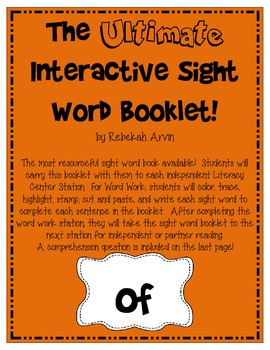 Interactive Sight Word Book {of}