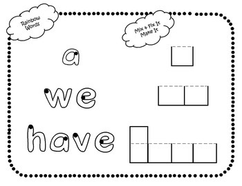"""Sight Word Interactive Booklet: """"we have a"""""""