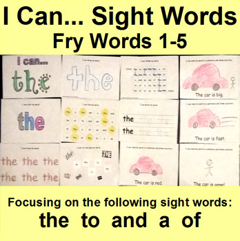 Interactive Sight Word Books Fry 1-5