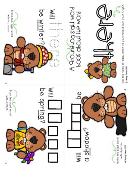Interactive Sight Word Books: Groundhog's Day